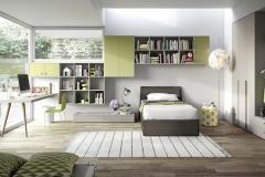 Battistella-Cameretta-Collezione-Nidi-Teen-1-bambini-ragazzi-letto-a-terra-scrivania-libreria-arredamento-righetti-novara